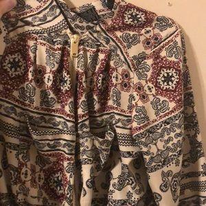 Long printed dress shirt